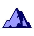 abstract mountain icon logo concept vector image vector image