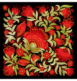 abstract red floral ornament isolated on a black vector image vector image