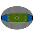 aerial view of a soccer stadium vector image vector image
