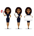 african american business woman vector image