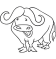 african buffalo for coloring book vector image vector image