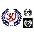 Anniversary laurel wreath vector image vector image