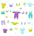 Baby Boy Cute Background - for Baby Shower vector image