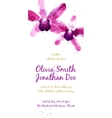 background with purple watercolor orchids vector image vector image