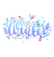 background with winter items vector image vector image