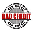 bad credit stamp vector image