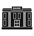 bank icon simple style vector image vector image
