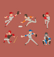 baseball team player sport man in uniform vector image vector image