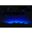 Beautiful night space landscape vector image vector image