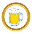 Beer mug icon cartoon style vector image