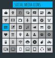 big social media icon set vector image vector image
