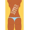 Bikini Sexy Girl Ass in panties Summer vector image vector image