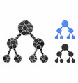 Binary tree composition icon spheric items
