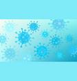 biue viruses floating under microscope on luminous vector image