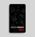 black friday sale banner for social media stories vector image vector image