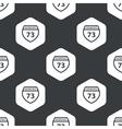 Black hexagon Interstate 73 pattern vector image vector image