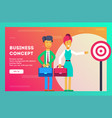 business concept successful businessmen vector image vector image