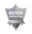 buyer protection guarantee label emblem isolated vector image vector image