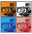 camera and lenses vector image vector image