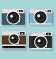 camera of collection design set vector image