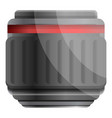 camera professional lens icon cartoon style vector image