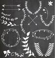 Chalkboard Wreaths Arrows Assortment vector image