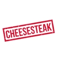 Cheesesteak rubber stamp vector image vector image