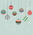 christmas greeting card with decoration balls vector image vector image