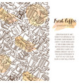 coffee page design vector image vector image