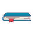 colorful graphic of book with bookmark vector image