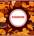 cookies shop confectionery pastry or bakery vector image vector image