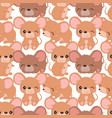 cute mice seamless pattern vector image vector image