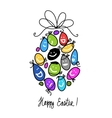 Easter egg for your design vector image vector image