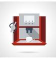 Electronic coffee machine flat icon vector image vector image