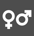 gender icons man and woman symbols vector image