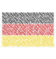germany flag mosaic of chain icons vector image vector image