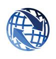 globe with arrows icon vector image vector image