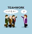 group of businessmen talking teamwork vector image
