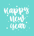 happy new year letter on a blue background vector image