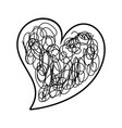 heart love romance passion doodle image vector image vector image