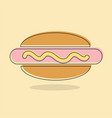 hot dog cooked sausage sandwich line icon filled vector image