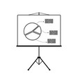 icon of presentation stand vector image