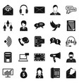 interaction icons set simple style vector image vector image