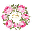 invitation card with floral whreath vector image vector image