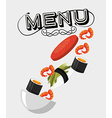 japanese food menu vector image vector image