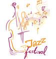jazz festival vector image vector image