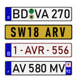 license plate numbers vector image vector image