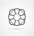lifebuoy flat line trendy icon eps10 vector image