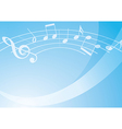 light blue music background with gradient vector image vector image