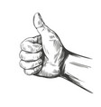 like and dislike thumbs up sign icon hand drawn vector image